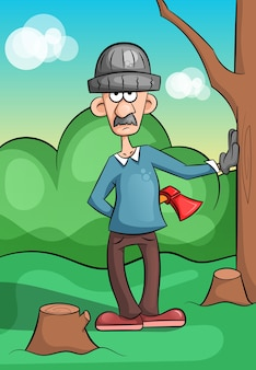 伐採された伐採木材