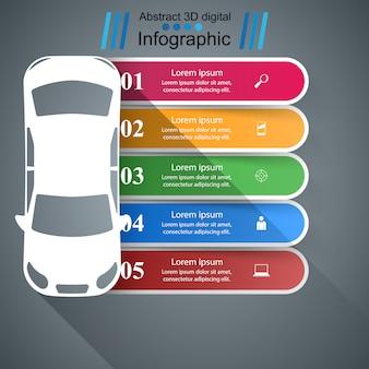 道路インフォグラフィックデザインテンプレートとマーケティングアイコン。