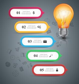 Инфографический шаблон дизайна и маркетинговые символы.