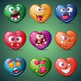バレンタインの心を設定