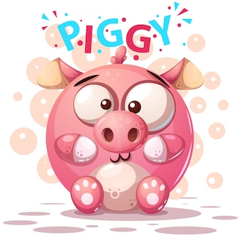 Симпатичные свиньи персонажи