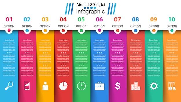 ビジネス紙インフォグラフィック