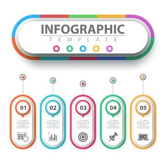 Бизнес инфографики. бумажный шаблон оригами