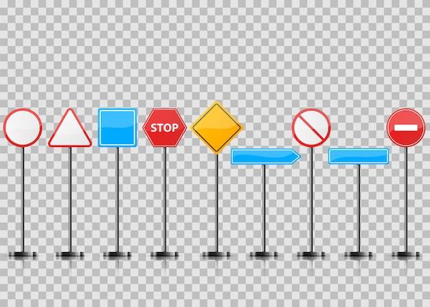 Установите реалистичный дорожный знак.