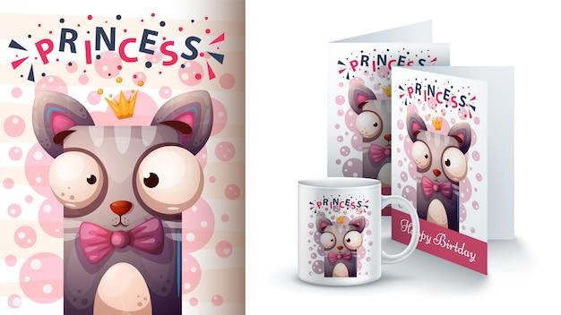Принцесса кошка дизайн чашки