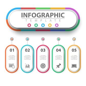 Бизнес инфографики. бумага оригами шаблон.