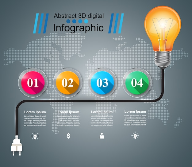 インフォグラフィックデザインテンプレートマーケティング。