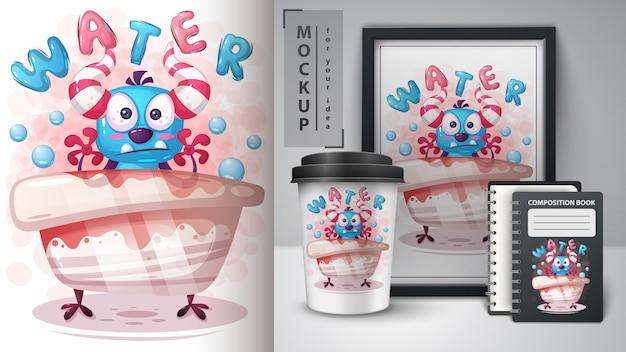 水モンスターポスターと商品化