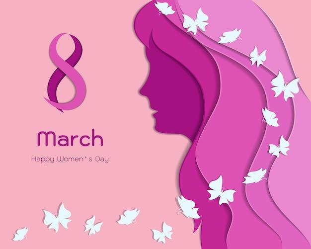 国際女性の日または母の日の概念
