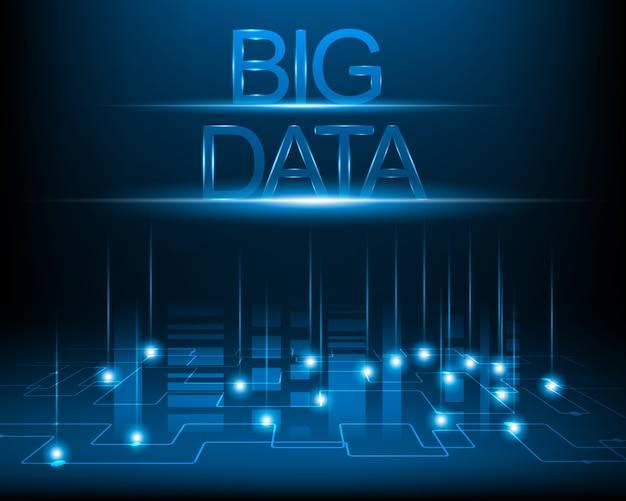 ビッグデータ概念とデジタルネットワーク。