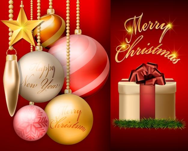 クリスマスボールの装飾やアクセサリーのデザイン。