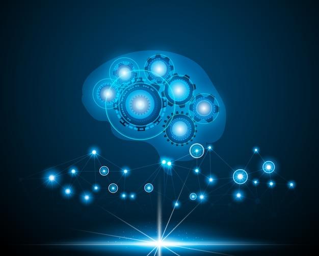 アイロボットネットワークの脳の概念。