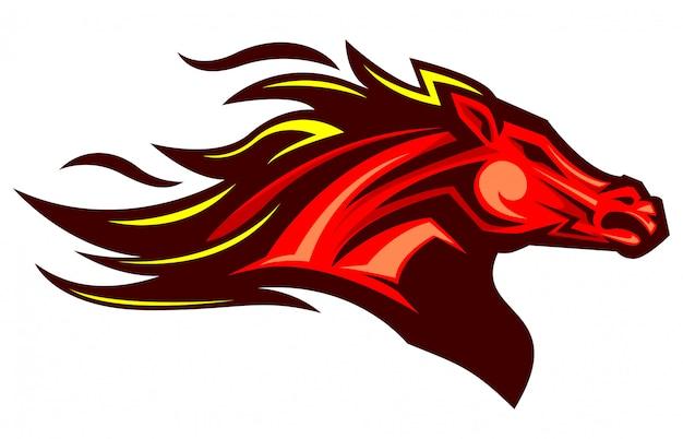 Сильный талисман иллюстрации лошади