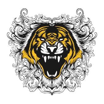 Цветочный тигр