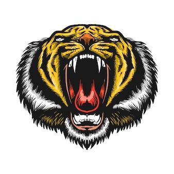 Рев тигра голова талисмана иллюстрация