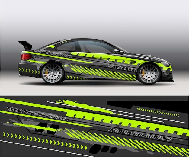 スポーツモダンな抽象デカールビニール車のデザインの背景