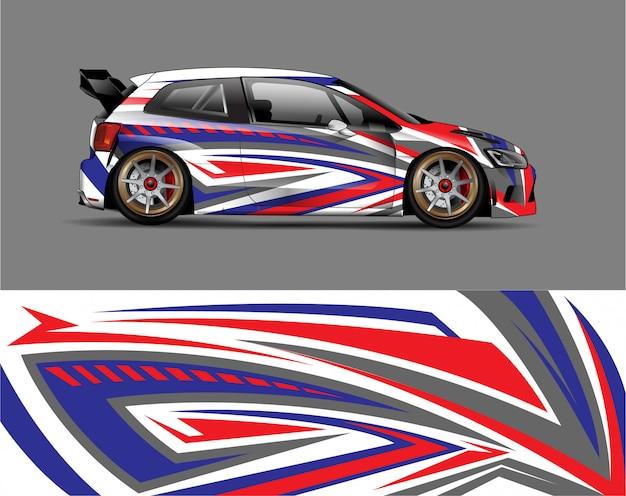 レーシングカーラップデカールデザインコンセプト