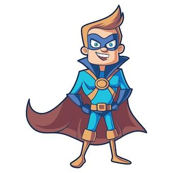 Векторные иллюстрации шаржа супермена.