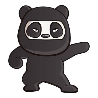 Мультфильм иллюстрация панды.