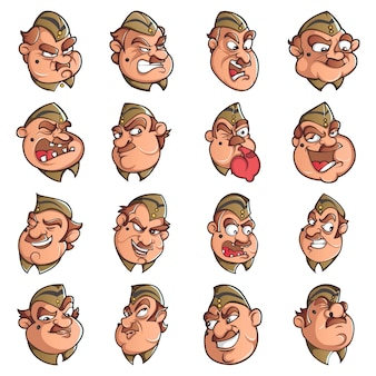 警官セットの漫画イラスト。