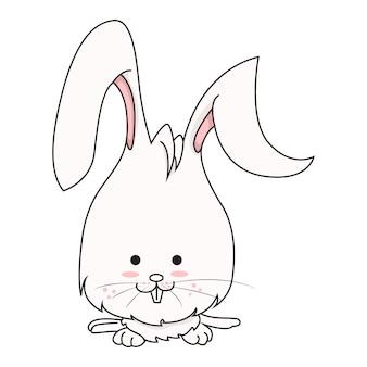 ウサギのベクトル漫画イラスト。