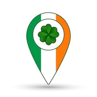 アイルランドフラグの位置アイコン