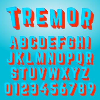 アルファベットフォントトレモアデザイン