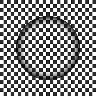 エッジがぼやけた透明な円の穴