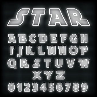Шаблон шрифта алфавита