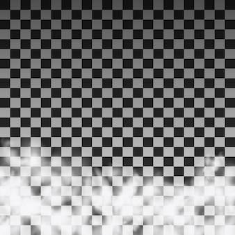 透明な背景に半透明の煙雲のテンプレート。ベクトルイラスト