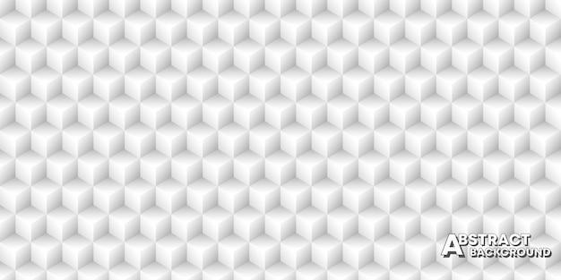 キューブとのシームレスなパターン背景