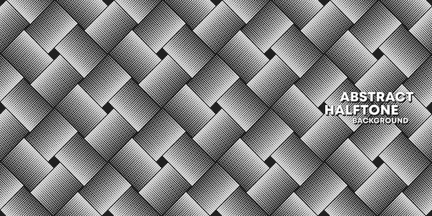ハーフトーンシームレスパターン背景テンプレート