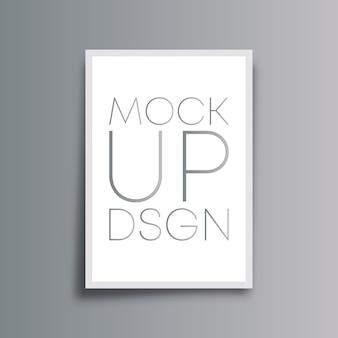 モックアップの背景の最小限のデザイン