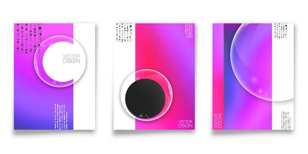 Обложка градиентный дизайн фона