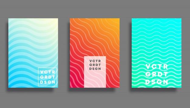 カラフルなグラデーションの背景デザインセット