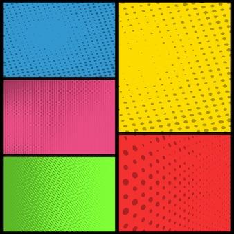 Пустой фон страницы комиксов с полутоновым цветом