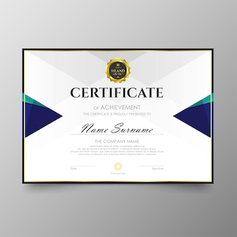 証明書のプレミアムテンプレート賞の卒業証明書の背景ベクトル値と贅沢なレイアウト。