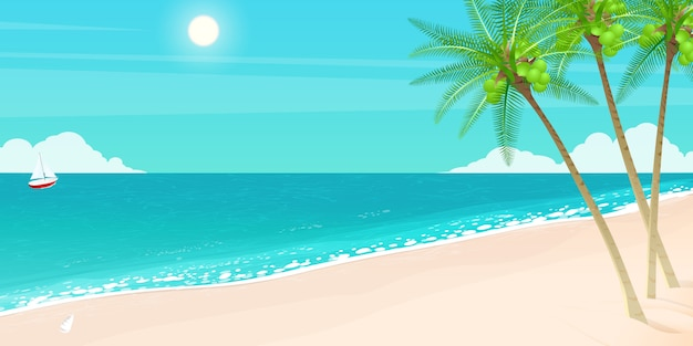 こんにちは夏の休日、海の島。