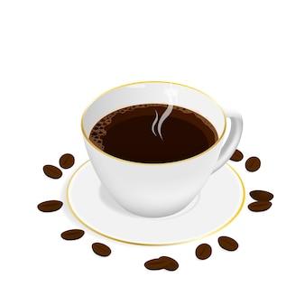 アイソメエスプレッソコーヒーカップベクトル