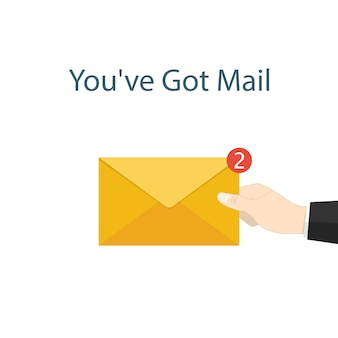 メールが届いています