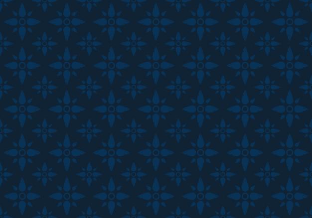 インディゴオリエンタルタイのシームレスパターン