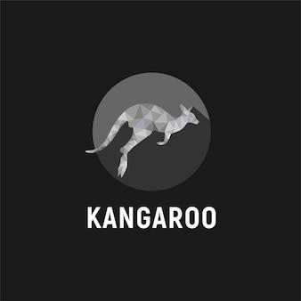 ジャンプしているカンガルーのロゴデザイン