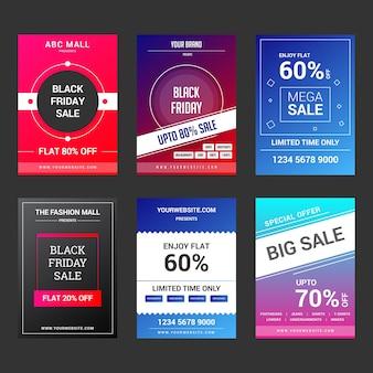 ブランディング&デジタルマーケティングのためのソーシャルメディアバナー&チラシの最新コレクション