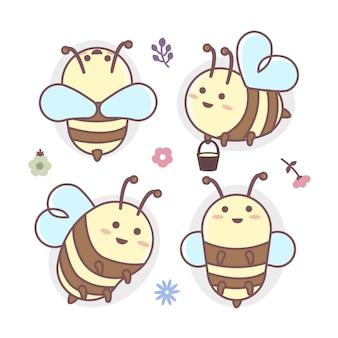 Набор символов пчелы летают