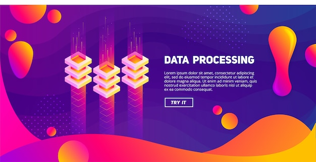 Большие данные - красочная жидкость