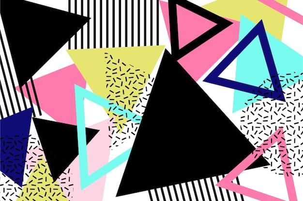 三角形のメンフィスの背景