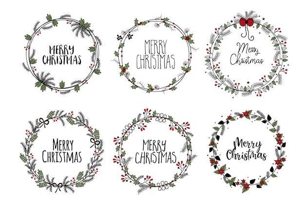 クリスマスフレーム枝の花輪