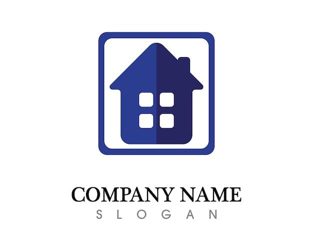 Логотип недвижимости и домашних зданий