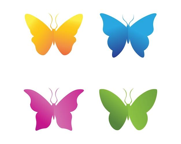 ベクトル - 蝶、概念的なシンプルでカラフルなアイコン。ロゴ。ベクトル図