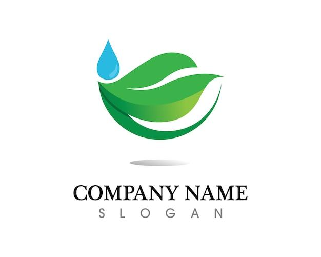 木の葉のロゴデザイン、環境にやさしいコンセプト。